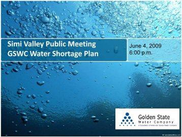 PRESENTATION NAME - Golden State Water Company