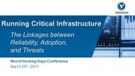 Running Critical Infrastructure and the Linkages between Reliability ...