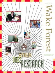 WFU Alumni Magazine June 2004 - Past Issues - Wake Forest ...