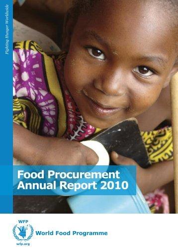 Food Procurement Annual Report 2010
