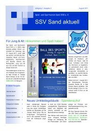 SSV Sand Aktuell 02/2011 - SportOn