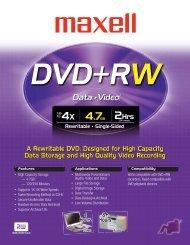 DVD+RW - Maxell Canada