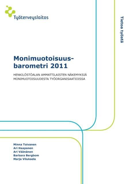 Monimuotoisuusbarometri 2011 - Työterveyslaitos