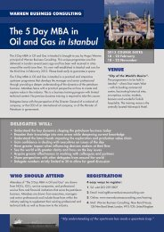 The 5 Day MBA in Oil and Gas in Istanbul - Warren Business ...