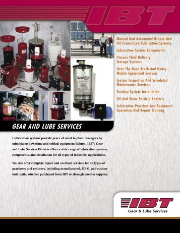 gear and lube lc - IBT, Inc.