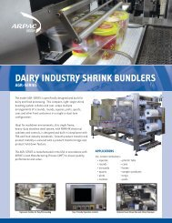 dairy industry shrink bundlers agr-series - Buyers Guide - Dairy Foods