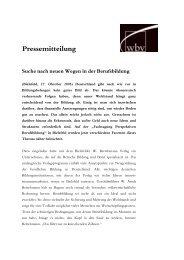 Microsoft Word - Fachtagung_pressetext.pdf - wbv-Fachtagung