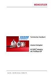 Handbuch Drehgeber RA 58 mit Profibus DP - Hengstler GmbH