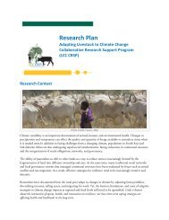 Research Plan - Livestock-Climate CRSP
