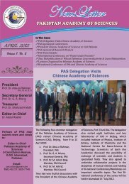 NewsLetter April 2012 - Pakistan Academy of Sciences