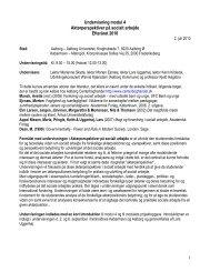 Undervisning modul 4 - Kandidatuddannelsen i Socialt Arbejde
