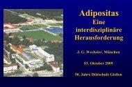 Adipositas - eine interdisziplinäre Herausforderung