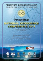 National Geoscience Conference 2011 - Department Of Geology ...