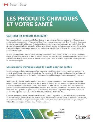 Les produits chimiques et votre santé - Substances chimiques