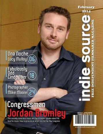 "Interviewed, ""Congressman,"" Indie Source magazine, February 2014."