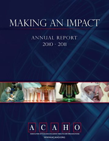 2010-2011 Annual Report - Acaho