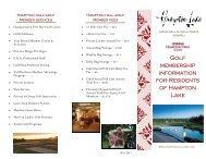2012 Golf Membership Brochure - Hampton Lake