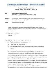 Kandidatuddannelsen i Socialt Arbejde