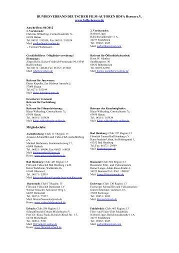 Clubadressen des BDFA Hessen - SportOn