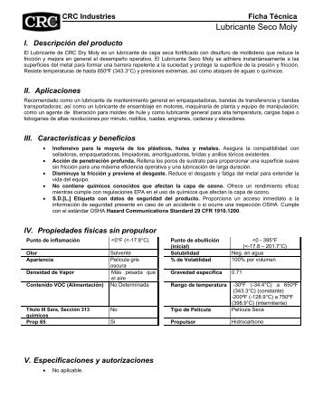 Lubricante Seco Moly - CRC Industries
