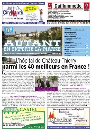 L'hôpital de Château-Thierry parmi les 40 ... - Autant-actu.com