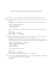 Solutions for Some of the Queries Problems in Lab 4