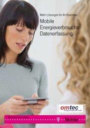 Mobile Energieverbrauchs- Datenerfassung. - T-Mobile Business