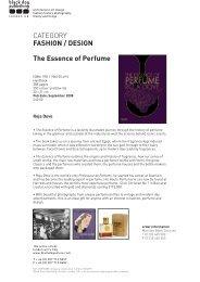 CATEGORY FASHION / DESIGN The Essence of Perfume