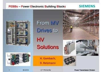 PEBBs – Power Electronic Building Blocks - Siemens