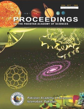820a9a09PAS Proceedings 49 No. 2 June 2012.pdf - Pakistan ...