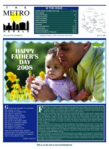 happy father's day 2008 - The Metro Herald