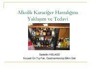 Alkolik Karaciğer Hastalığı - Prof. Dr. Sadettin Hülagü