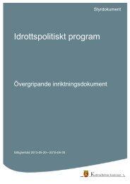 Idrottspolitiskt program.pdf - Katrineholms kommun