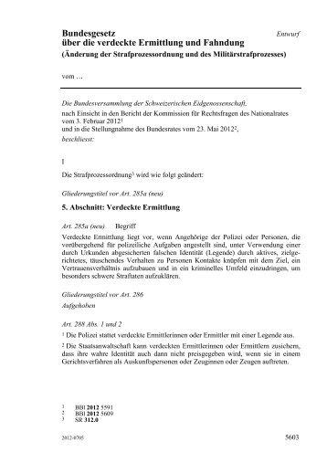 Bundesgesetz über die verdeckte Ermittlung und Fahndung