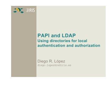 PAPI and LDAP