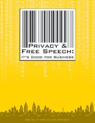 Privacy and Free Speech: It's Good for Business - ACLU of Northern ...