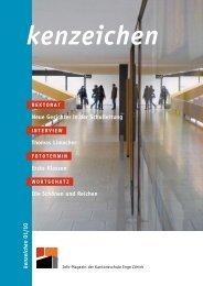 kenzeichen Ausgabe 1/10 - Kantonsschule Enge