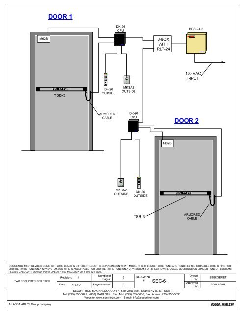 Securitron Wiring Diagrams - Wiring Diagram Article on