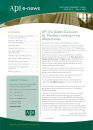 API eNews, March 2009 - The Australian Property Institute