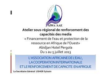 'UNION AFRICAINE DES DISTRIBUTEURS D 'EAU - Global Water ...