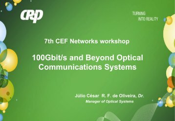 100Gbps and Beyond Optical Communications Systems