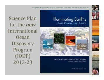 Science Plan for the new International Ocean Discovery Program ...