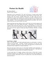 Posture for Health - Working Well Ergonomics Information Website