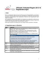 Offizielle Volleyball-Regeln 2013-16 Regeländerungen