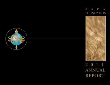 2011 Annual Report - the AAPG Foundation - American Association ...