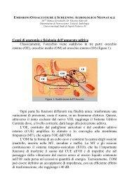 Emissioni otoacustiche e screening audiologico neonatale