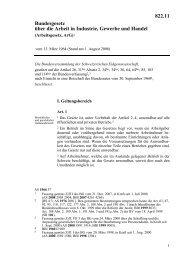 Bundesgesetz über die Arbeit in Industrie, Gewerbe und Handel - FFE