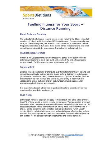 Fuelling Fitness for Your Sport – Distance Running