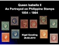 Queen Isabella II Q As Portrayed on Philippine Stamps 1854 – 1864
