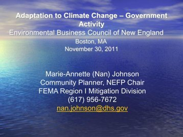 (Nan) Johnson - Environmental Business Council of New England, Inc.